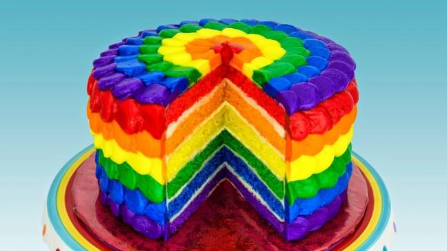 Vídeo Tutorial para fazer um bolo arco-íris