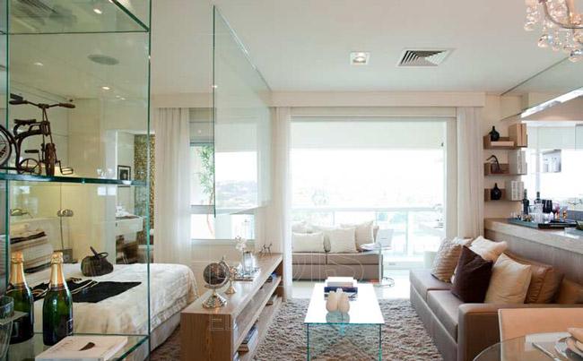 decoracao de apartamentos pequenos salas:Apartamentos Decorados Pequenos – Veja 22 Ambientes Inspiradores-18