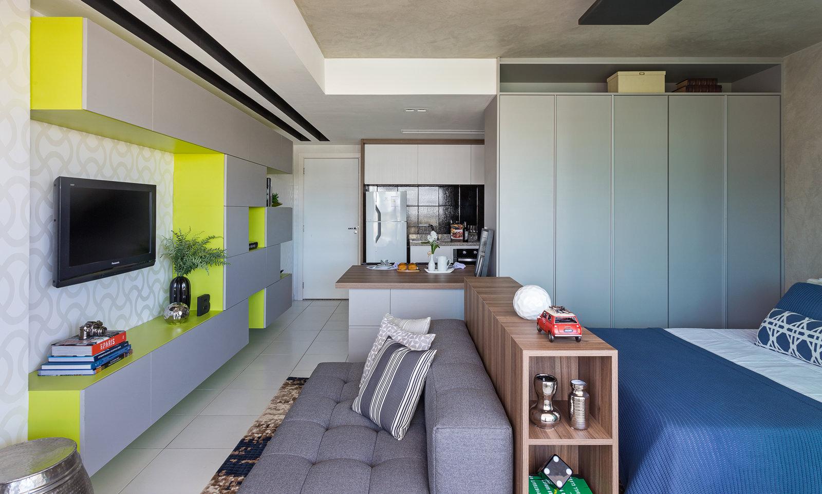 Apartamentos decorados pequenos veja 23 ambientes for Modelos de mini apartamentos