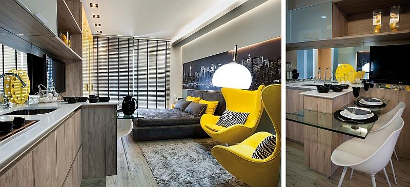 decoracao kitnet jovem : decoracao kitnet jovem:Apartamentos Decorados Pequenos – Veja 22 Ambientes Inspiradores-11