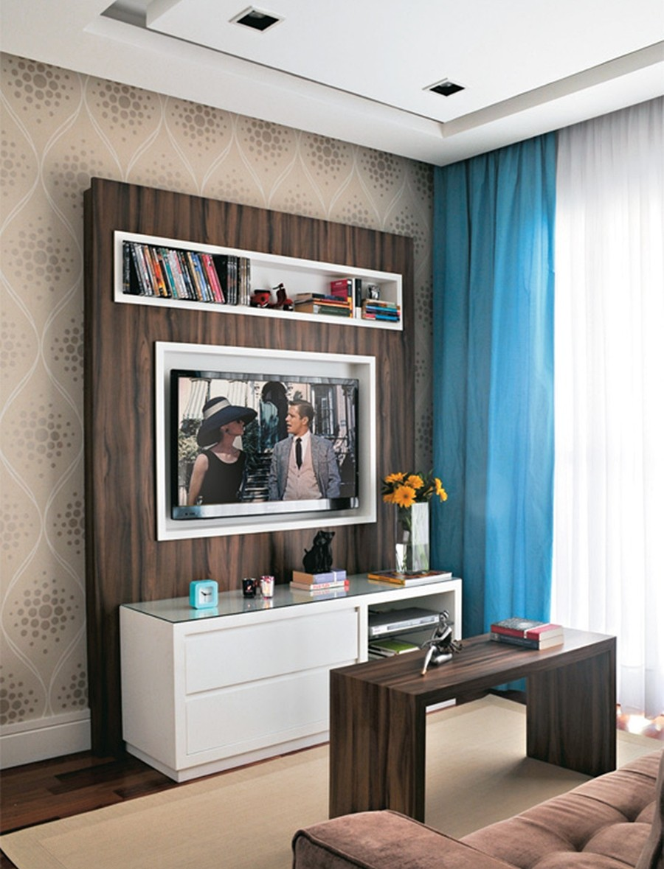 Apartamentos decorados pequenos veja 23 ambientes for Living pequeno moderno