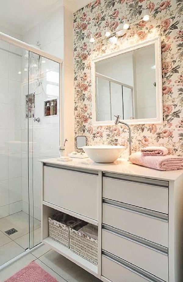 Banheiros Decorados – 19 Ideias Para Você Fazer Igual! -> Decoracao De Banheiro Pequeno Feminino
