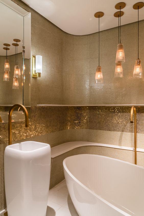 Banheiros Pequenos Decorados – 11 Dicas para Decorar o Seu # Banheiro Publico Decorado