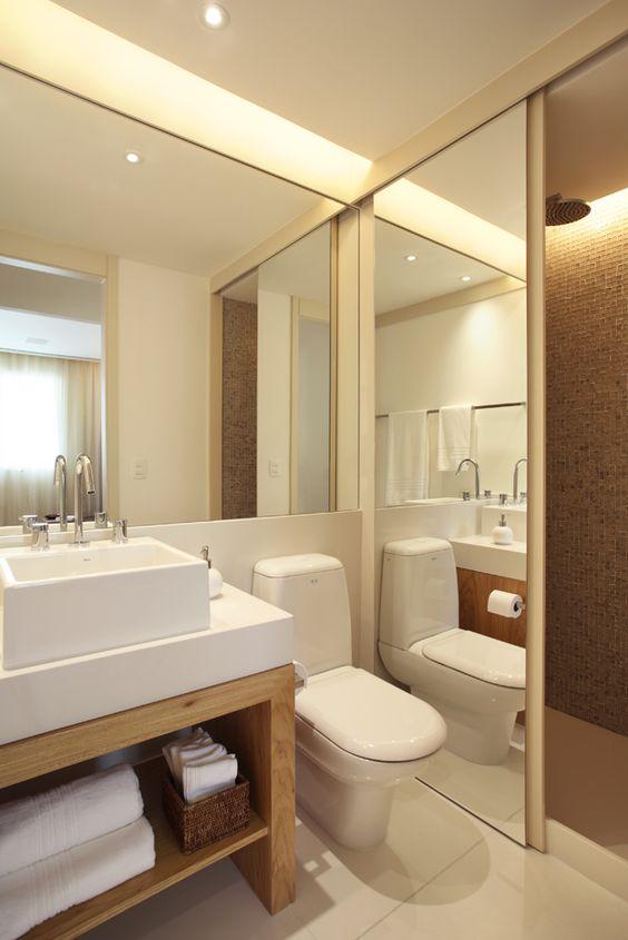 Banheiros Pequenos Decorados – 11 Dicas para Decorar o Seu -> Banheiro Decorado Com Cestas