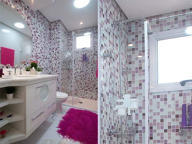 Banheiros pequenos decorados 11 dicas para decorar o seu for Modelos de banos para departamentos