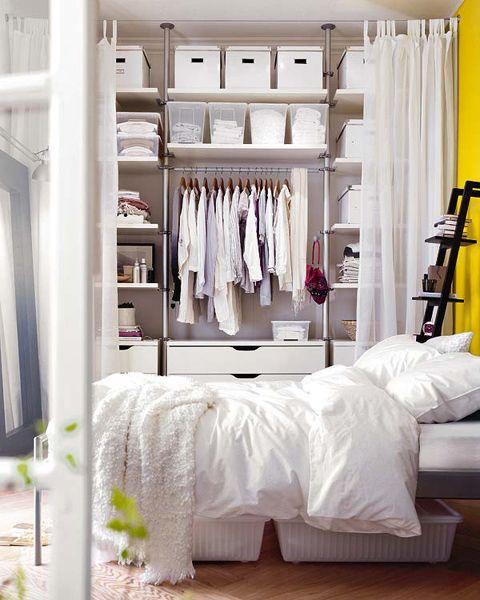 Closets Pequenos – 24 Ideias Práticas e Lindas Para Te Inspirar-17
