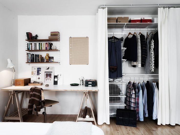 Closets Pequenos – 24 Ideias Práticas e Lindas Para Te Inspirar-21