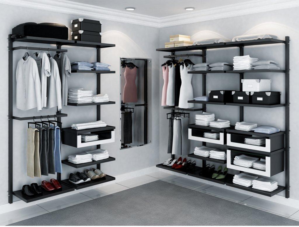 Closets pequenos 24 ideias pr ticas e lindas para te for Modelos de zapateras para closets