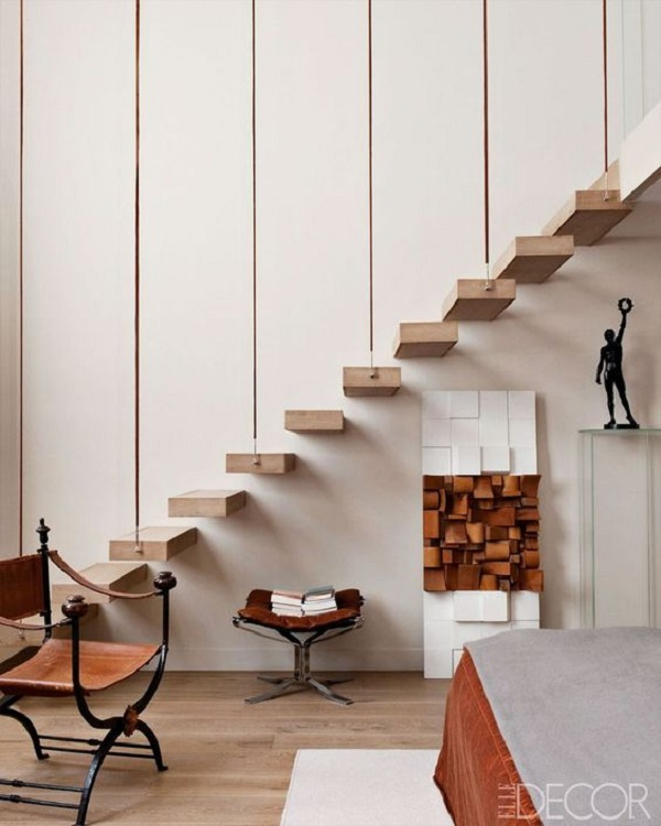 Escadas de Madeira -  20 Ideias Para Inspiração-13