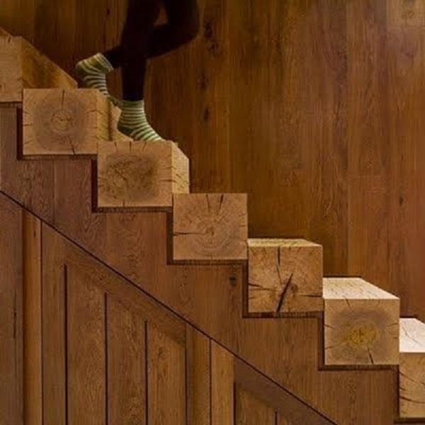 Escadas de Madeira -  20 Ideias Para Inspiração-17
