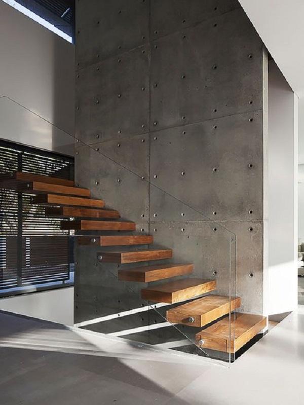 Escadas de Madeira -  20 Ideias Para Inspiração-4