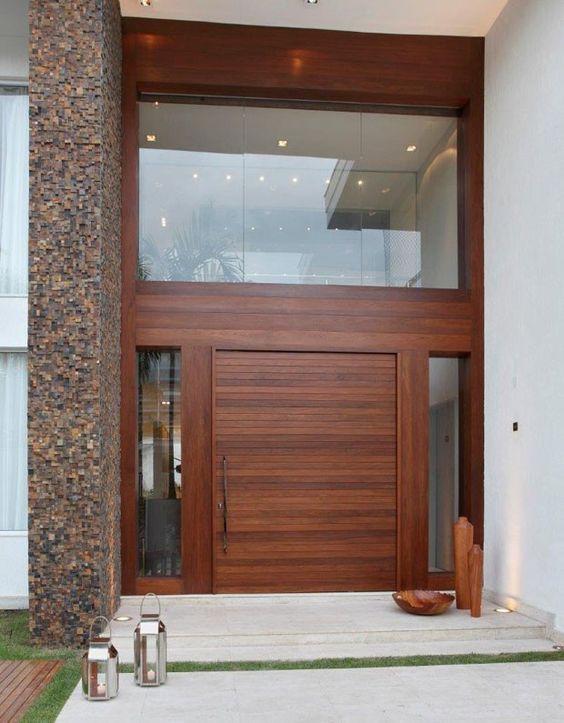 Modelos de casas modernas x ideias para se inspirar for Puertas de entrada de casas modernas