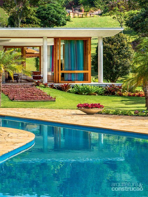 Modelos de casas modernas x ideias para se inspirar for Modelos de piscinas de campo