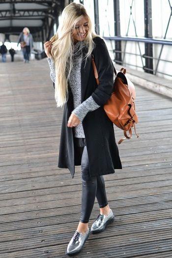 Quando falamos em Como Usar Sapatos Metalizados Tendência Outono Inverso 2017 e como combinar, roupas ou cores, logo nos vem a mente o preto básico