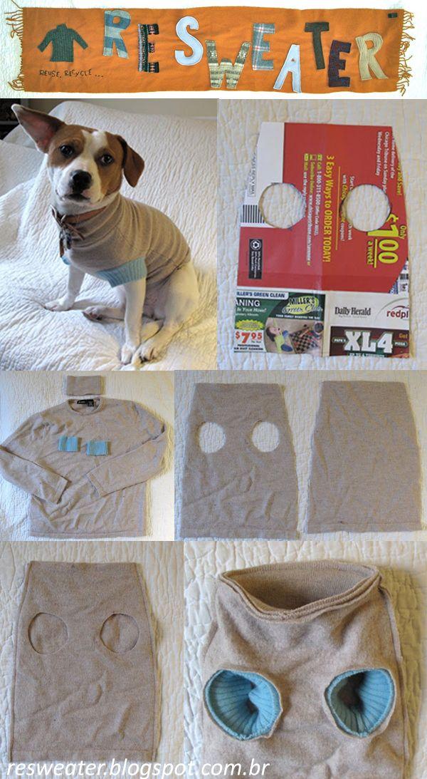 Como fazer roupa para cachorro de blusa