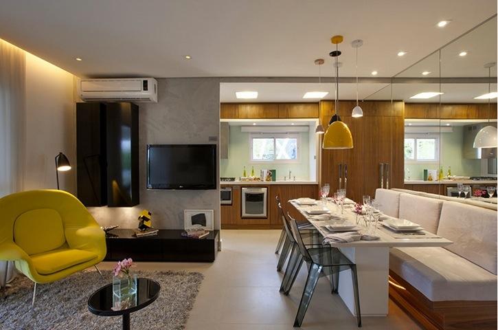 Apartamentos Decorados Pequenos – Veja 22 Ambientes Inspiradores-4