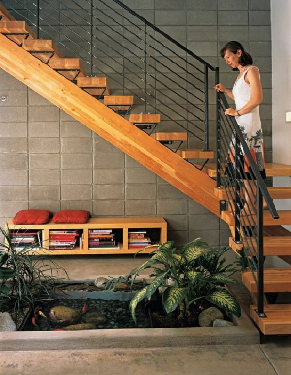 Escadas de Madeira -  20 Ideias Para Inspiração-1