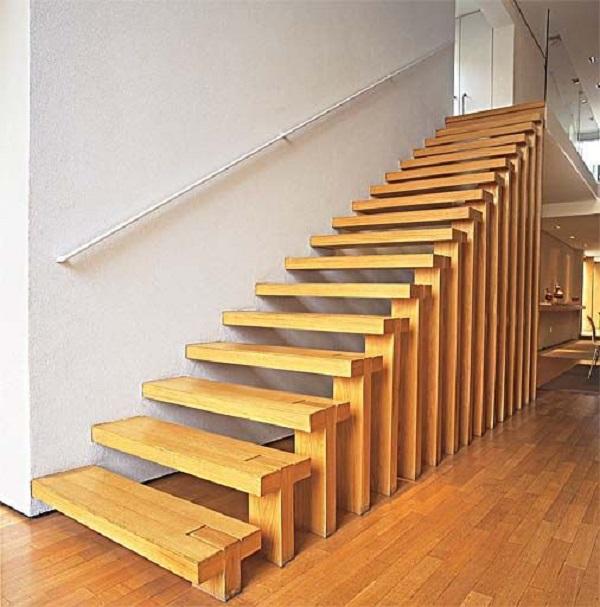 Escadas de Madeira -  20 Ideias Para Inspiração