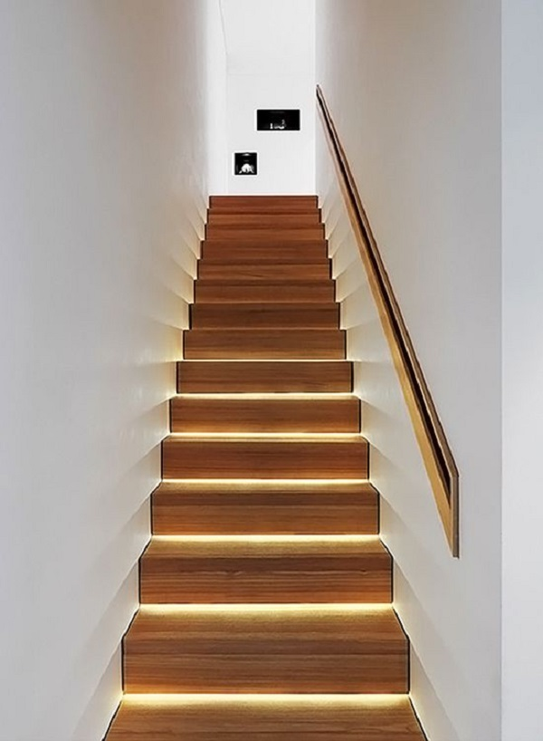 Escadas de Madeira -  20 Ideias Para Inspiração-19