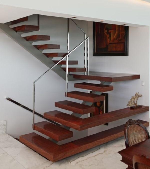 Escadas de Madeira -  20 Ideias Para Inspiração-6