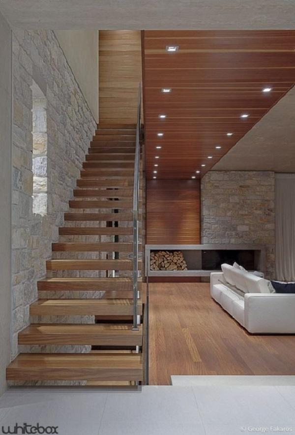 Escadas de Madeira -  20 Ideias Para Inspiração-7