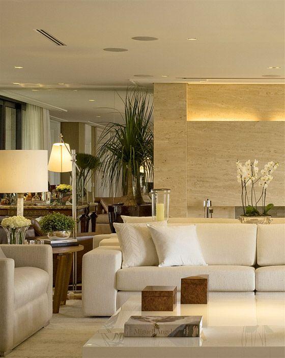 Modelos de casas modernas x ideias para se inspirar for Interiores de salas modernas