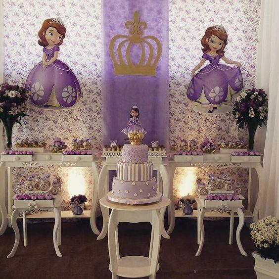 Festa de Aniversário da Princesa Sofia Bolo, Decoraç u00e3o -> Decoração De Aniversário Princesa Sofia