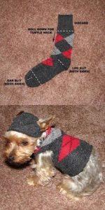 Como fazer roupa para cachorro meias