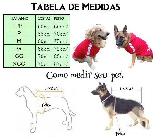 Como fazer roupa para cachorro tabela de medidas