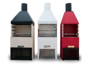 Modelos de churrasqueiras pré moldadas coloridas